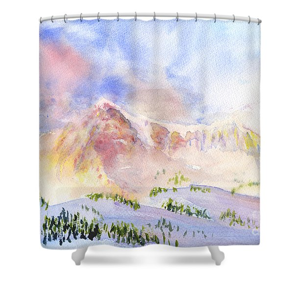 Sunrise On Mount Ogden Shower Curtain