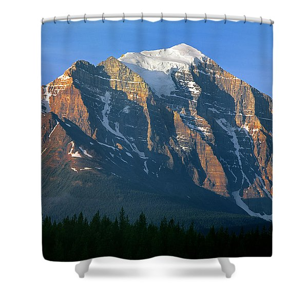 1m3518-sunrise On Mt. Temple Shower Curtain