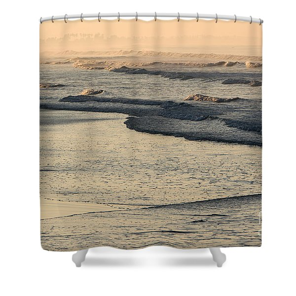 Shower Curtain featuring the photograph Sunrise On The Ocean by John Wadleigh
