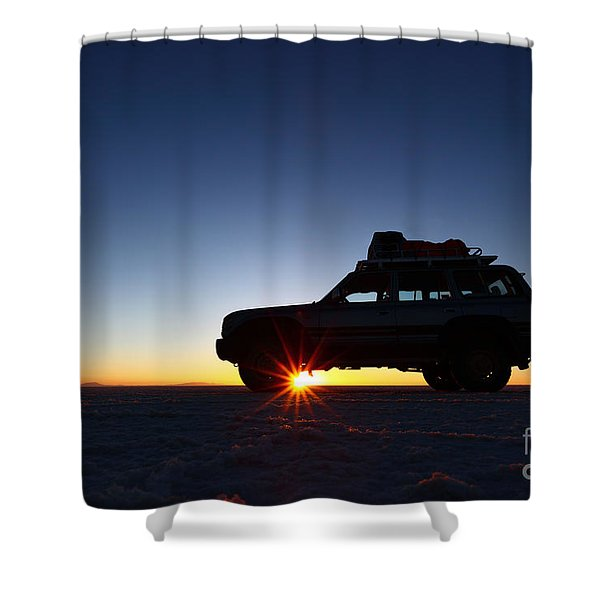 Sunrise On The Salar De Uyuni Shower Curtain