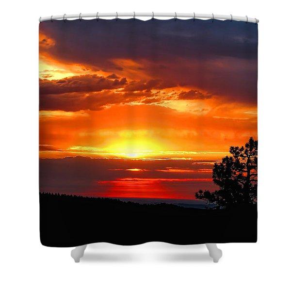 Sunrise Over Keystone Shower Curtain