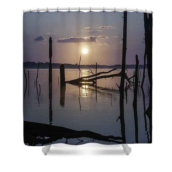 Sunrise Over Manasquan Reservoir Shower Curtain