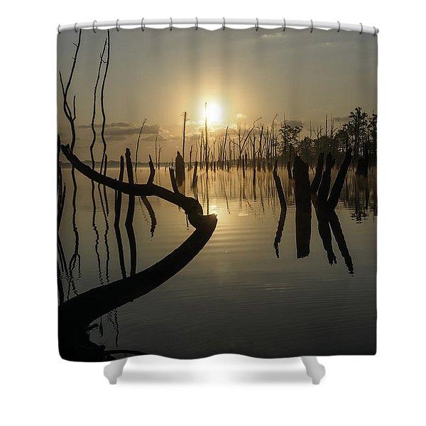 Sunrise Over Manasquan Reservoir II Shower Curtain