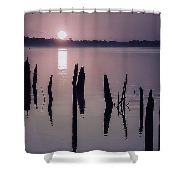 Sunrise Over Manasquan Reservoir Iv Shower Curtain