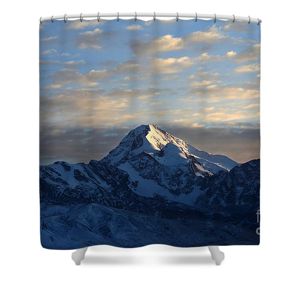 Sunrise Over Mt Huayna Potosi Shower Curtain