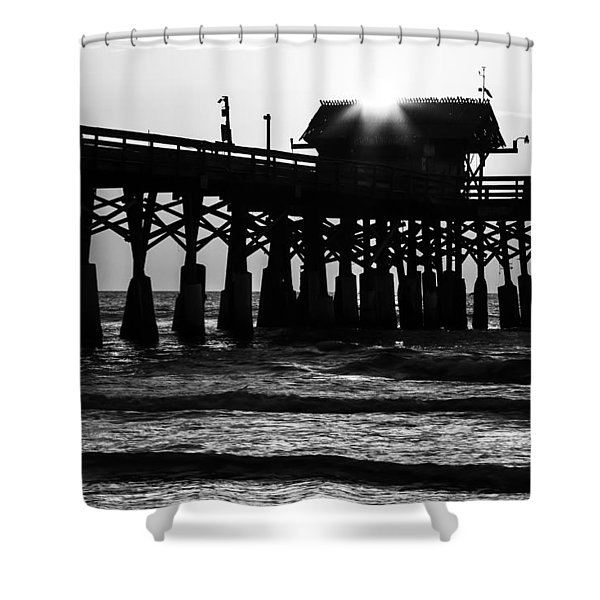 Sunrise Over Pier Shower Curtain
