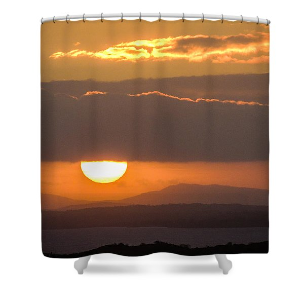Sunrise Over River Shannon Shower Curtain