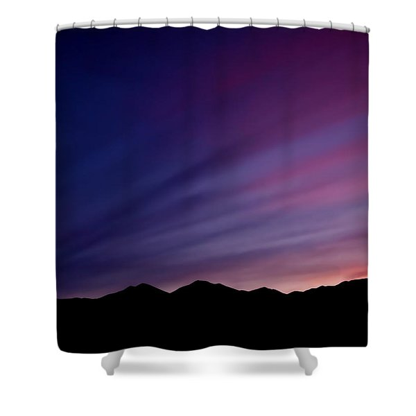 Sunrise Over The Mountains Shower Curtain
