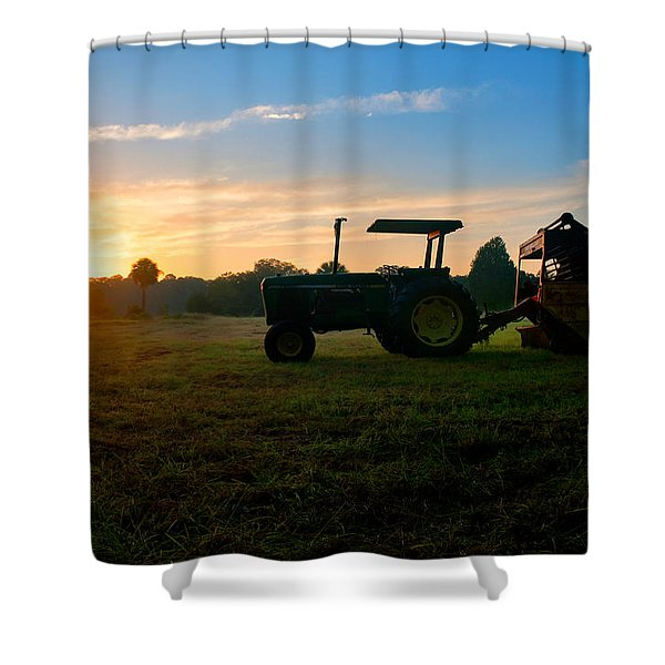 Sunrise Tractor Shower Curtain