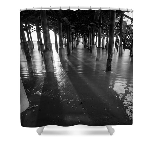 Sunrise Under Pier Shower Curtain