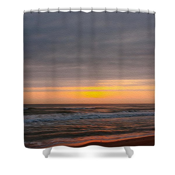Sunrise Under The Clouds Shower Curtain