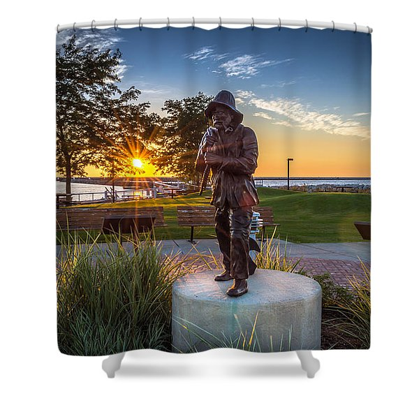 Sunrise With The Fisherman Shower Curtain