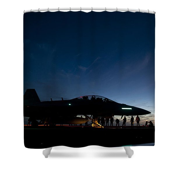 Sunset And The Growler Shower Curtain
