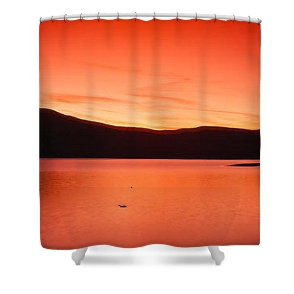 Sunset At Ashokan Reservoir, Catskill Shower Curtain