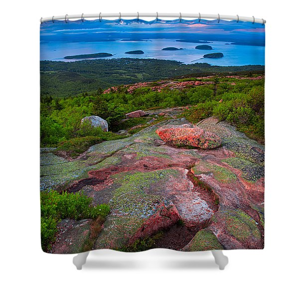 Sunset At Cadillac Mountain Shower Curtain