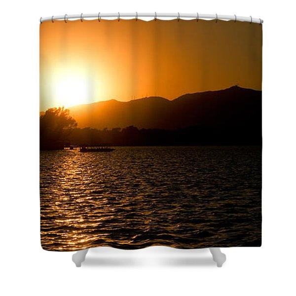 Sunset At Kunming Lake Shower Curtain