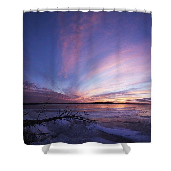 Sunset At Lovewell Lake Kansas Shower Curtain