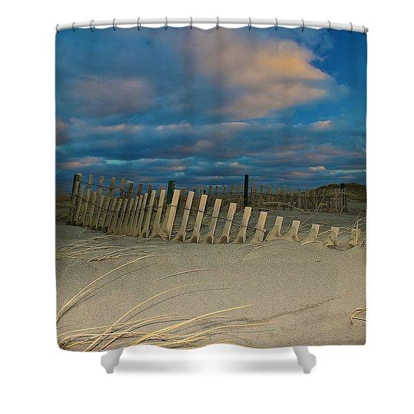 Sunset At Nauset Beach Cape Cod Shower Curtain