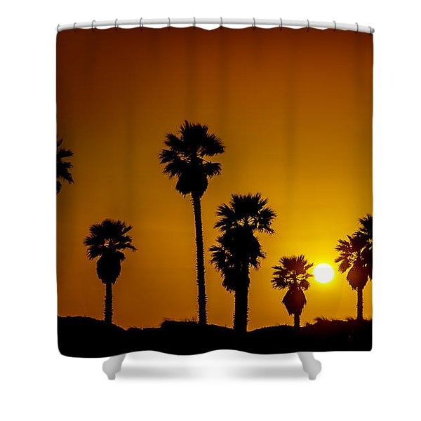 Shower Curtain featuring the photograph Sunset At The Beach Large Canvas Art, Canvas Print, Large Art, Large Wall Decor, Home Decor by David Millenheft