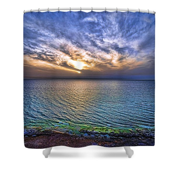Sunset At The Cliff Beach Shower Curtain