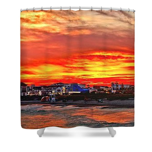 Sunset At The Music Pier Shower Curtain