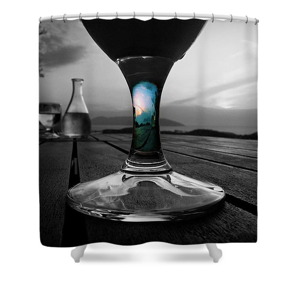 Sunset Cafe Shower Curtain