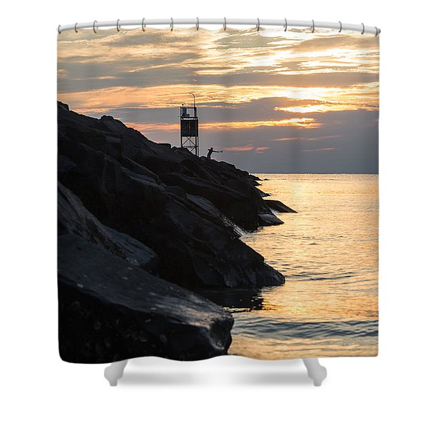 Sunset Catch Shower Curtain