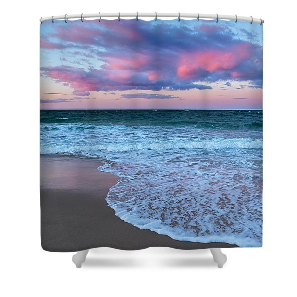 Sunset East Square Shower Curtain