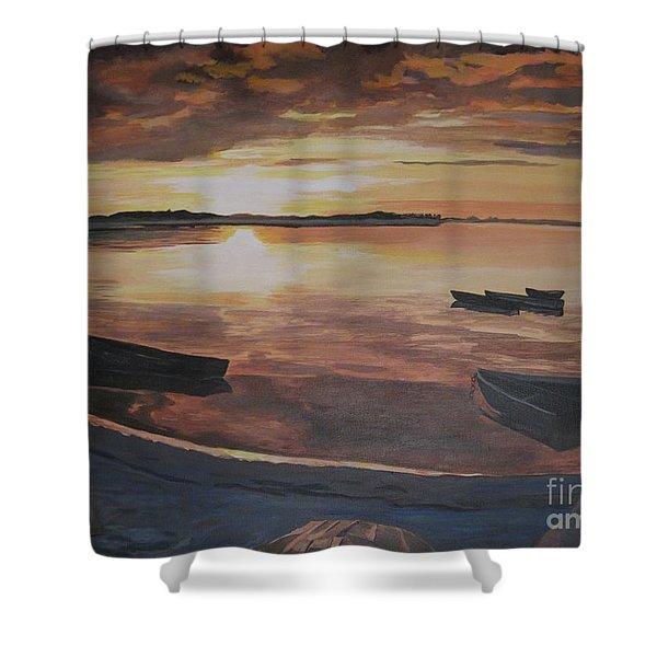 Sunset Evening Tide Shower Curtain