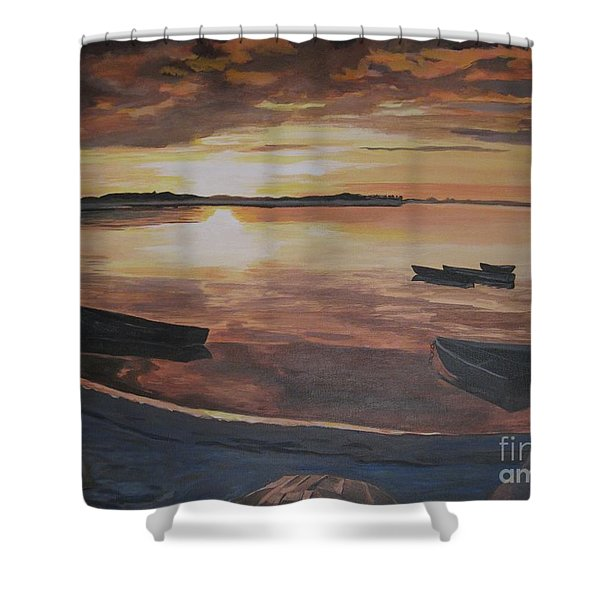 Sunset Evening Tide Shower Curtain