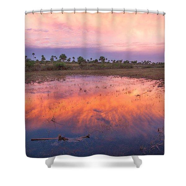 Everglades Afterglow Shower Curtain