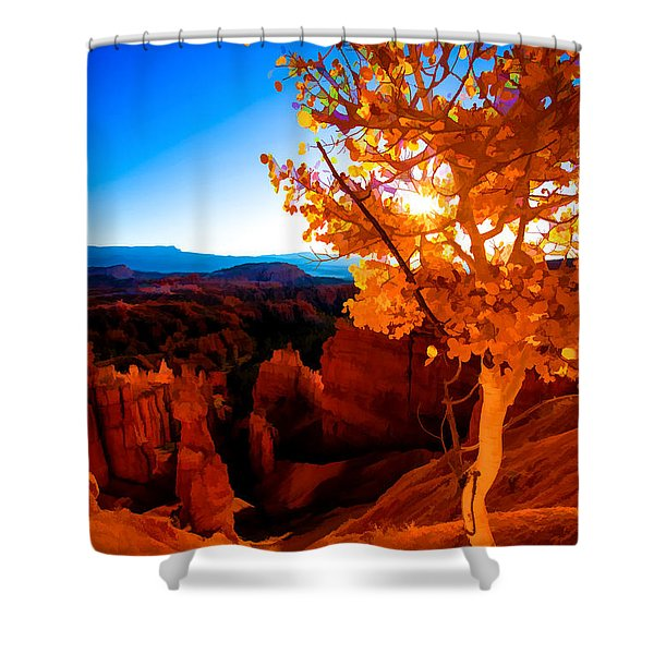 Sunset Fall Shower Curtain