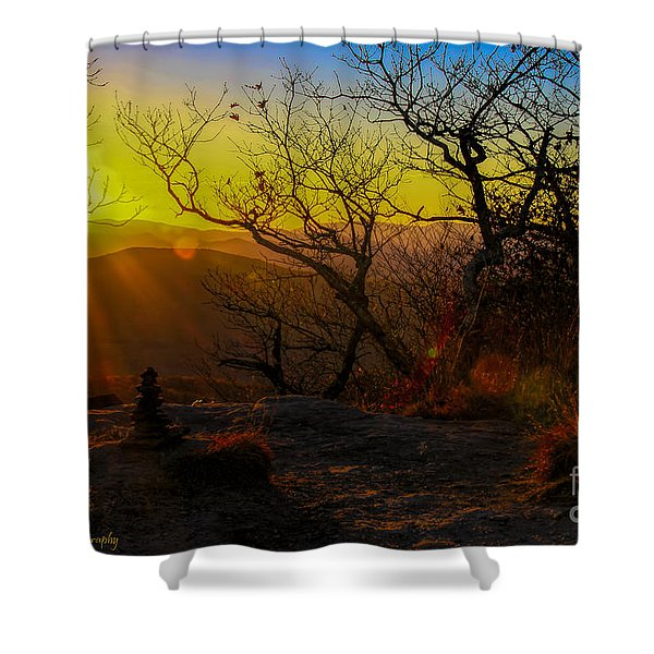 Sunset From Blood Mountain Shower Curtain