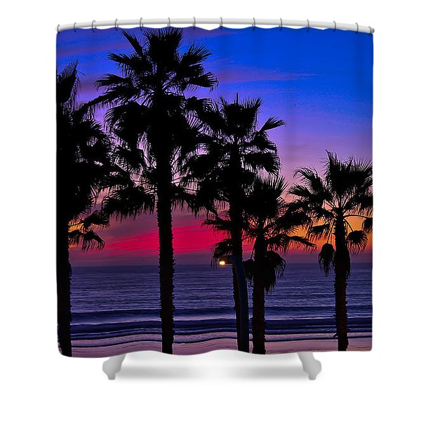 Sunset From The Ocean Park Inn Shower Curtain