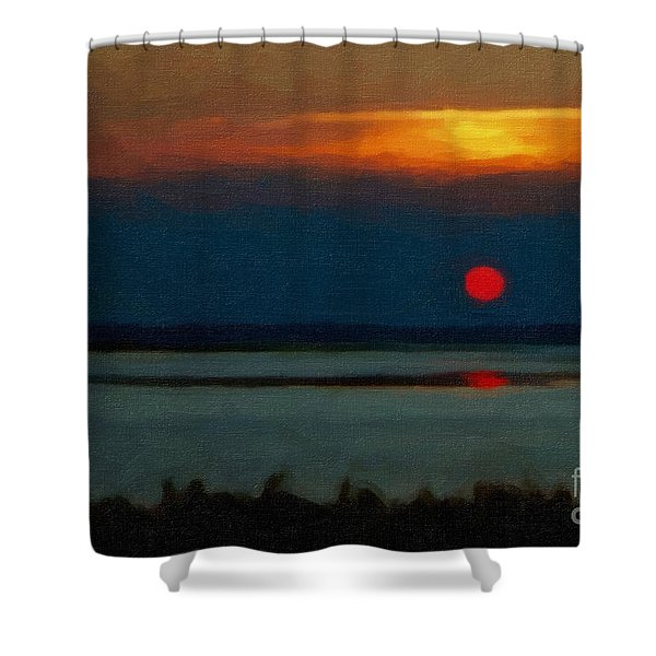Shower Curtain featuring the photograph Sunset by Gerlinde Keating - Galleria GK Keating Associates Inc
