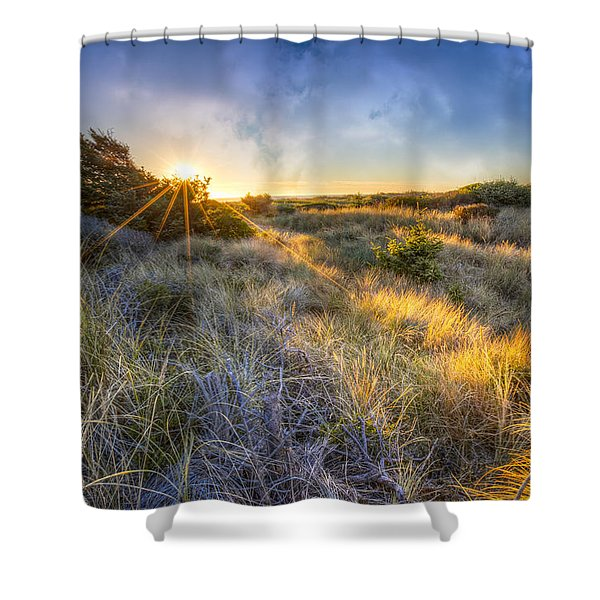 Sunset Glow On The Dunes Shower Curtain