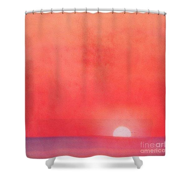 Sunset Impression Shower Curtain