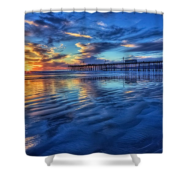 Sunset In Blue Shower Curtain