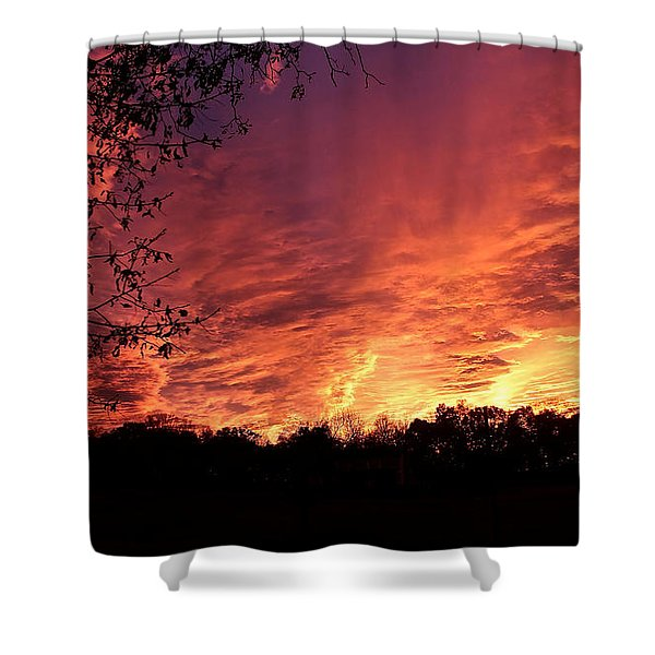 Sunset In Blue Ridge Foothills Shower Curtain