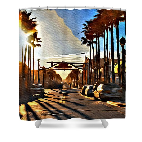 Sunset In Daytona Beach Shower Curtain