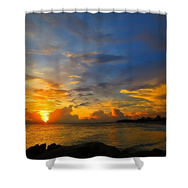 Sunset In Paradise - Beach Photography By Sharon Cummings Shower Curtain