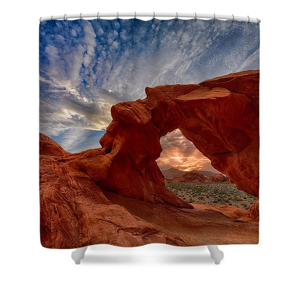 Sunset In The Valley Of Fire Shower Curtain