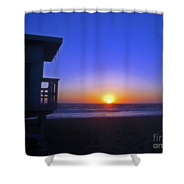 Sunset In Venice Shower Curtain