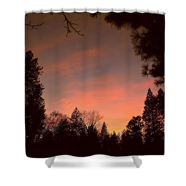 Sunset In Winter Shower Curtain