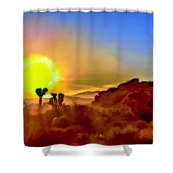 Sunset Joshua Tree National Park V2 Shower Curtain