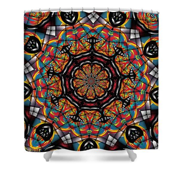 Sunset K 88 Kaleidoscope Shower Curtain