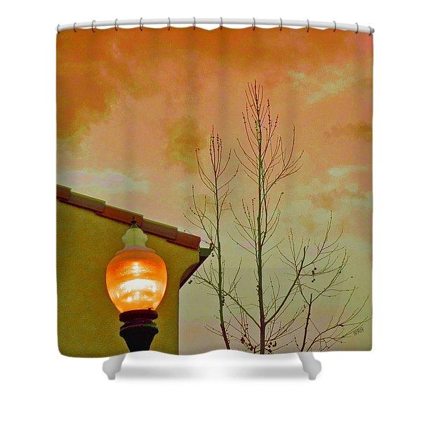 Sunset Lantern Shower Curtain