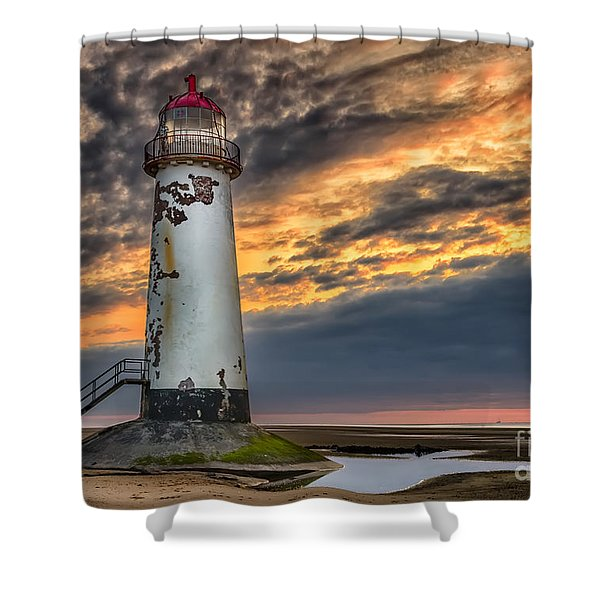 Sunset Lighthouse Shower Curtain