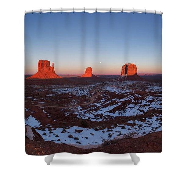 Sunset Moonrise Shower Curtain