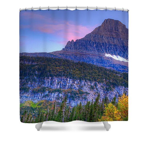 Sunset On Reynolds Mountain Shower Curtain